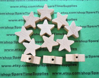 """DP4637WW12 Standard Star Pre-drilled - 1"""" tall x 1"""" wide x 3/8"""" thick 1/8"""" hole - unfinished wood - 12 pcs"""