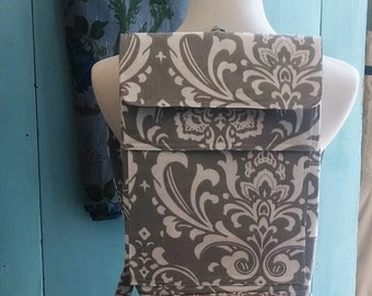 Cute Feeding Tube Backpack - Custom Fabric Choices - Front Pocket for Quick Pump Access