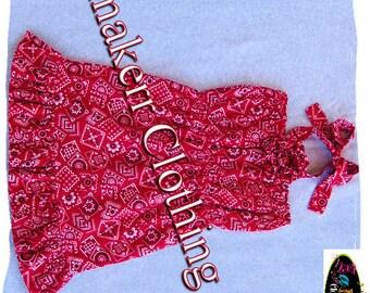 Girl Bandana Dress - Custom Boutique Clothing - Toddler Infant Girl Bandana Ruffle Dress 3 6 9 12 18 24 month size 2T 2 3T 3 4T 4 5T 5 6 7 8