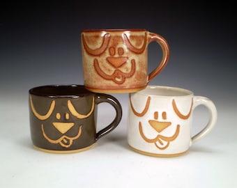 Dog Mugs, Handmade Stoneware Pottery
