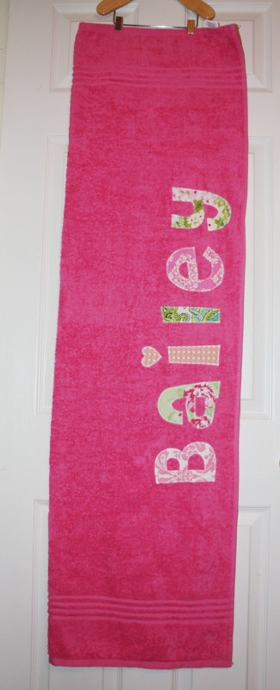 Boys or Girls Personalized Towel - Birthday gift, Bath Towel, Swim Towel, Beach Towel, Nap Mat, Party Favors