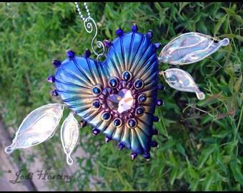 Beadworx - Polymer Clay and Crystal Sun Catcher - Soul Spirit - Heart of Avalon