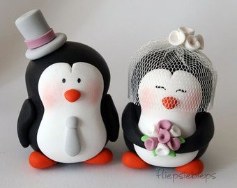Customise Penguin Wedding Cake Topper