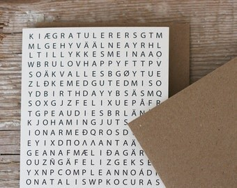 Mulitiple Language Birthday Card