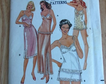 Vintage Lingerie shorts bodysuit half slip camisole teddy Butterick Misses sewing pattern UNCUT sizes 8, lingerie sewing pattern