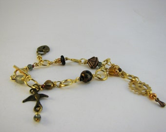 Steampunk Knitting Row Counter Bracelet