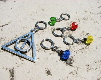 Harry Potter and the Deathly Hallows Non-Snag Stitch Markers