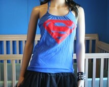 Superman halter top recycled Small