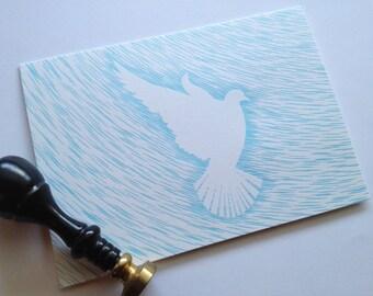 Letterpress Winter Dove Cards