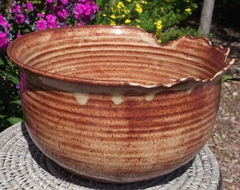 SALE Planter or Large Bowl in Earthtones - Handmade Pottery