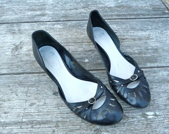 Vintage 1980/80s look like 60s /Black shoes  size 7.5