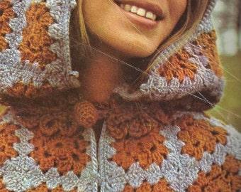 Granny Square Cloak Pattern (Adult and Child) - PDF