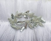 glitterati silk tulle garter white