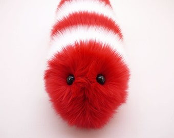 Valentine's Gift Stuffed Animal Cute Plush Toy Caterpillar Kawaii Plushie Peppermint the Red and White Snuggle Worm Toy Medium 6x18 Inches