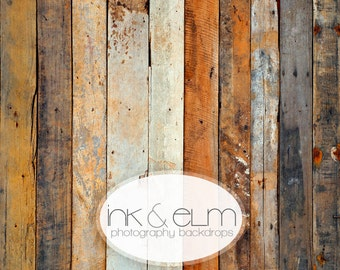 "Vinyl Backdrop 5ft x 5ft, Vinyl Wood Photography Backdrop or Floordrop, Old vintage wood backdrop, photo booth background prop, ""Ghost Town"""