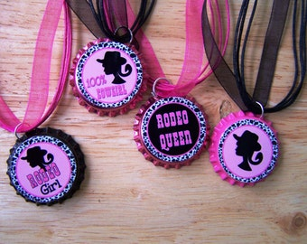 Western Rodeo Show Cowgirl Girl Birthday Party Favor Necklaces 10pk