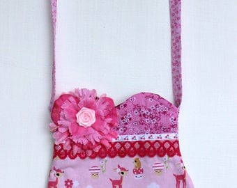 Pink Woodland Deer  Purse-Ready to ship