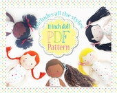 Fabric Doll Sewing Pattern - PDF - Easy Tutorial - Instant Download