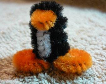 Tiny Fuzzy Penguin Dollhouse Miniature 1/12 scale