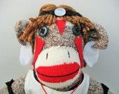 Princess Mononoke sock monkey READY TO SHIP!