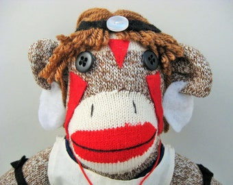 Princess Mononoke sock monkey MADE TO ORDER