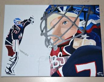 Sergei Bobrovsky Columbus Blue Jackets Painting Hockey Goalie