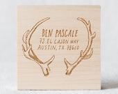 Antlers Custom Stamp