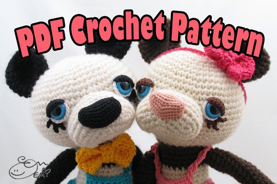 Amigurumi Eyes Australia : PDF Amigurumi / Crochet Pattern Boba and Chai the Sleepy ...