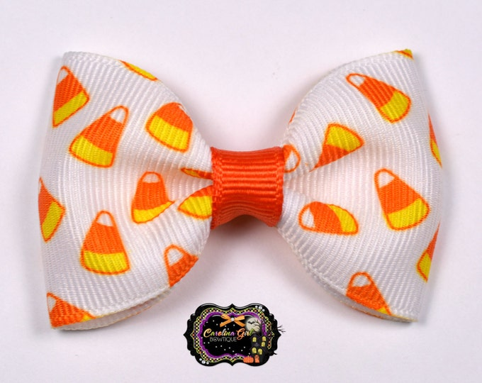 """Candy Corn 2.5"""" Hair Bow Tuxedo Bow Simple Bow Boutique Bow for Babies Toddlers Girls Hair Bows"""