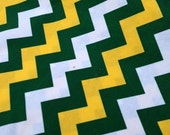 Yellow and Green Chevron Stripe, Riley Blake cotton by the yard
