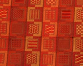 Autumn Colors Tapestry Upholstery Fabric Gold, Red, Orange Color Blocks Home Dec Yardage
