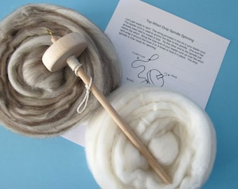 Drop Spindle Kit - Learn to Spin - Easy to Follow Instructions