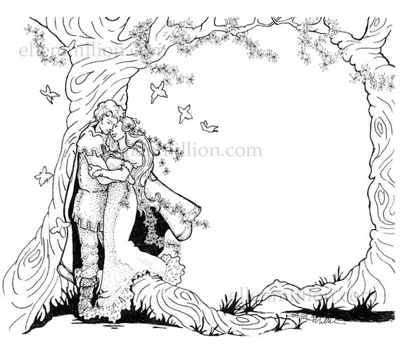 Items Similar To Fantasy Wedding Digi St Digital Coloring Page Happy Anniversary Coloring Pages