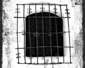 Abstract Window Photography, San Fernando Mission Window Photos, Black & White TTV, Minimalist Wall Art, Home Decor, 8x10 Fine Art Photos