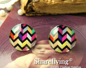 4pcs  25mm Handmade Photo Glass Cabs Cabochons -- BCH652T