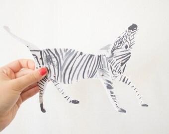 Articulated paper doll / marionette kit - Zebra