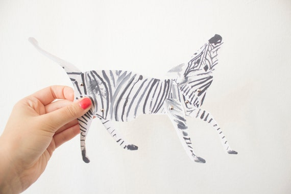 Articulated paper doll / marionette kit - Zebra