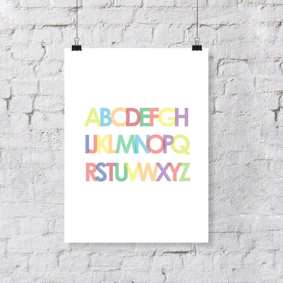 abc's  - nursery art print