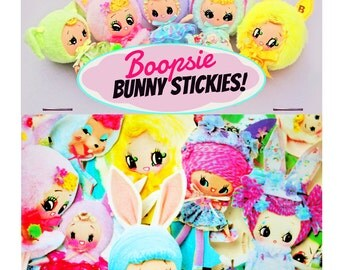 stickers cute big eye bunny doll boopsiedaisy stickers
