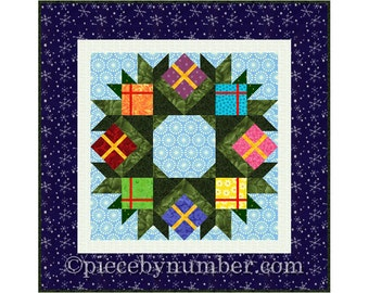 Wreath quilt pattern, paper piecing quilt pattern, PDF quilt pattern, Christmas quilt pattern, easy quilt pattern, holiday patterns gifts