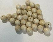 Cream Riverstone beads 8mm