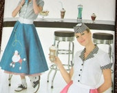 Sewing Pattern Simplicity 3847 Misses' Costume Soda Shop Size 30- 34 Inches Uncut Complete FF