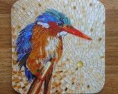 COASTER Mosaic Malachite Kingfisher Coaster - Mosaic Art