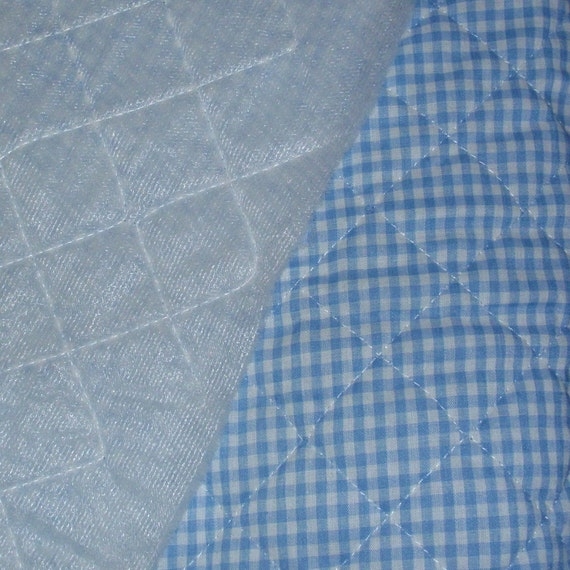 Quilted Fabric Blue Blue Gingham Ch...