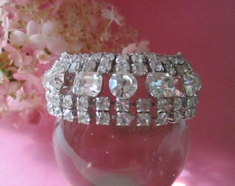 Vintage Rhinestone Bracelet wedding bracelet Bridal Jewelry