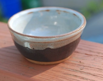 BLUE and black ceramic serving dish or bowl., handmade pottery, ready to ship, everyday bowl  B40