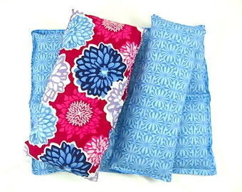 Therapy Gift Set: Neck Wrap, Back Relief Heat Pack, Floral, Gift Guide Heating Pad Microwave Heat Pack Gift Idea