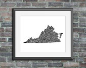 Virginia typography map a...