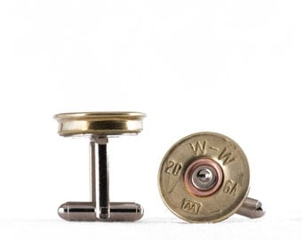 Cufflinks - Winchester 20 Shotgun Shells