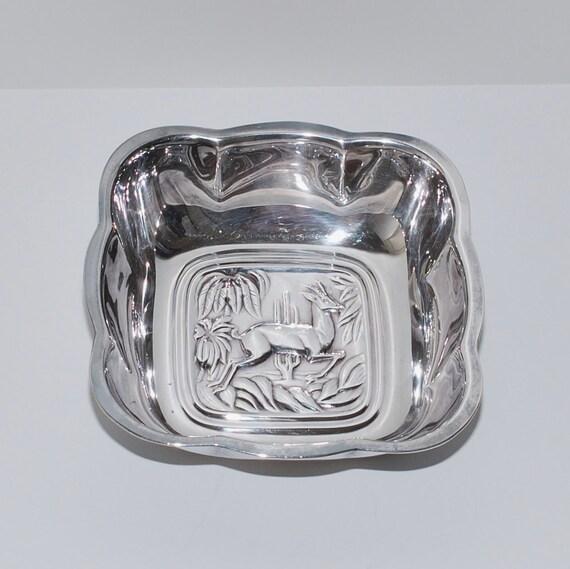 International Silver Company Tropical Antelope Dish Bowl